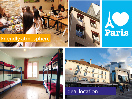 AIJ, cheap, youth hostel, Paris